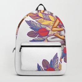 Feathers Meditation | Peaceful Art Backpack