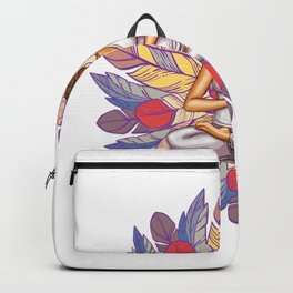 Feathers Meditation | Peaceful Art Backpack