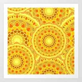 sun flower summer Art Print