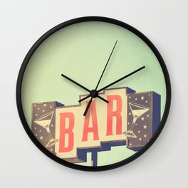 Bar. Los Angeles photograph Wall Clock