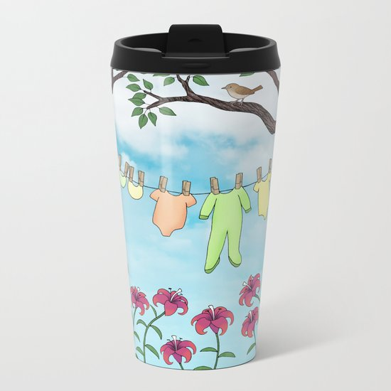 clean baby, happy home Metal Travel Mug