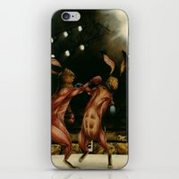boxing iPhone & iPod Skins featuring Boxing Rabbits by Erin Mulligan