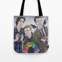 enerjax Tote Bags featuring Carry on my Wayward Feels by enerjax