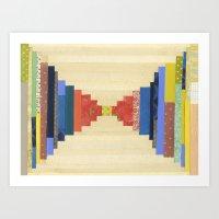 Vintage Quilted Color Block Art Print