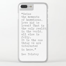 Leo Tolstoy Literacy Clear iPhone Case