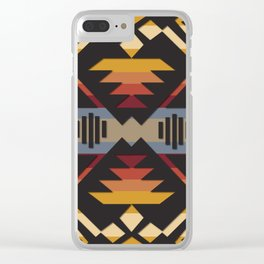 American Native Pattern No. 38 Clear iPhone Case