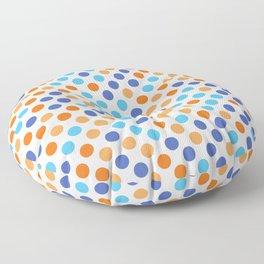 Orange and Blue Polka Dots Floor Pillow