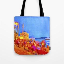 Istanbul Pop Art Tote Bag