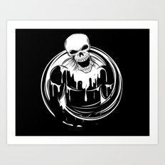 Skeleton Wrestler Art Print