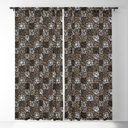 pattern of leaves and flowers Blackout Curtain