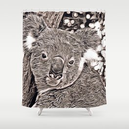 Rustic Style - Koala Shower Curtain