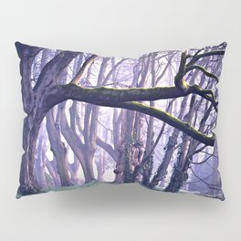 old trees in the middle of the forest Pillow Sham