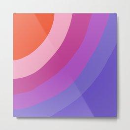 Purple Rainbow Waves Metal Print