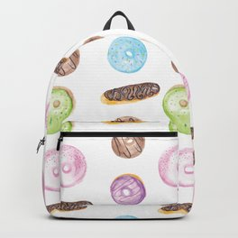 Watercolor Donuts and Chocolate Eclairs Backpack