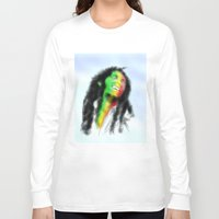 marley Long Sleeve T-shirts featuring Marley in the Sky by Andre Ferraz digital & Fine Art
