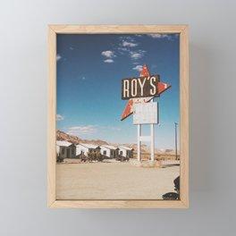 Roy's Motel Framed Mini Art Print