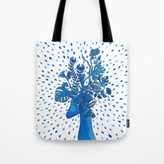 Flowery fawn Tote Bag