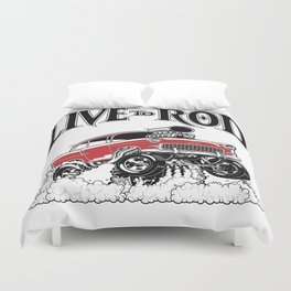 1955 CHEVY CLASSIC HOT ROD Duvet Cover