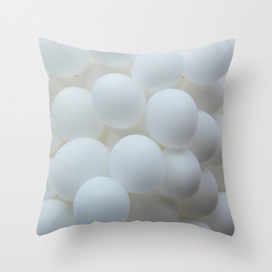 white balloons Throw Pillow