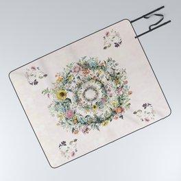 Circle of life- floral Picnic Blanket