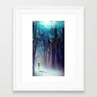 loish Framed Art Prints featuring AquaForest by loish