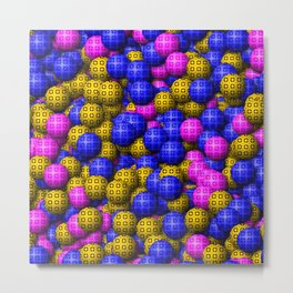 Patterned Balls Metal Print