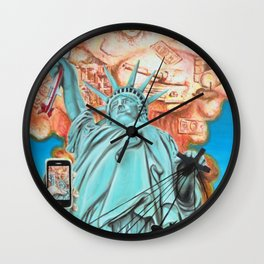 Welcome to America Wall Clock