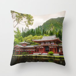 Temple at Sunrise Throw Pillow