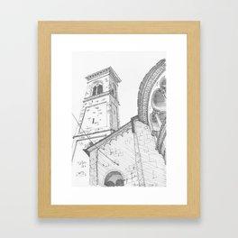 Bergamo Square, Italy Framed Art Print