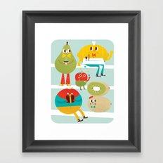 cute fruit Framed Art Print