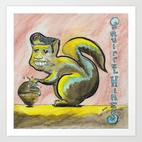 Squirrel Hines Art Print