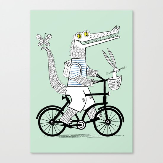 The Crococycle Canvas Print
