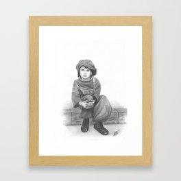 Alone in a cruel world Framed Art Print