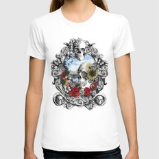 Reflection  White MEDIUM Womens Fitted Tee