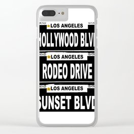 Los Angeles California Clear iPhone Case