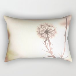 Pink Distant Dandelion Flower - Floral Nature Photography Art and Accessories Rectangular Pillow