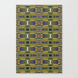 Woven Olive Green Canvas Print