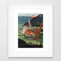 egg Framed Art Prints featuring egg by Ubik Designs