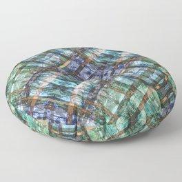 MOUNTAIN LAKE THROUGH HEMLOCK TREES Floor Pillow