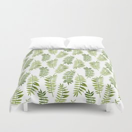 Watercolor hand-painted floral summer exotic tropical leaves seamless pattern Duvet Cover