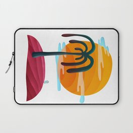 058 - Cute little Owly relaxing on the island Laptop Sleeve