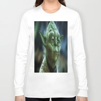 yoda Long Sleeve T-shirts featuring Yoda by Robin Curtiss
