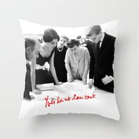 ysl Throw Pillows featuring YSL by cvrcak