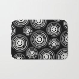Enso Circles - Zen Circles pattern #2 Bath Mat