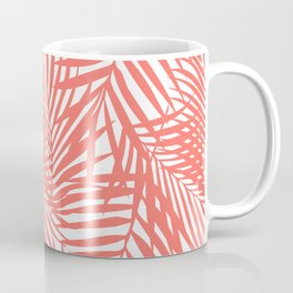 Palm Fronds in Living Coral Coffee Mug