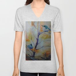 Unique Perspective Birdlife watercolor by CheyAnne Sexton Unisex V-Neck