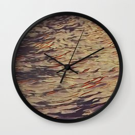 alone in the waves Wall Clock