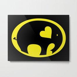 Bat Elephant Metal Print