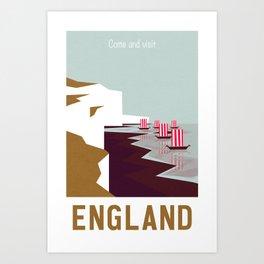 Come and visit England Art Print