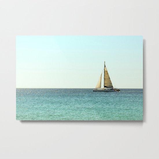 Sail Away with Me - Ocean, Sea, Blue Sky and Summer Sun Metal Print